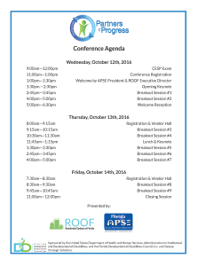 Conference Agenda Times