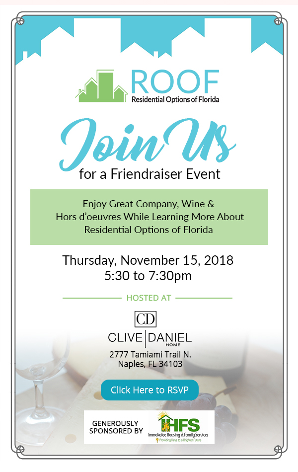 Join us for a Friendraiser Event @ Clive Daniel Home | Naples | Florida | United States